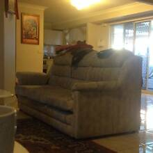Very Comfortable 3 Seater Sofa + Oval Coffee Table Green Valley Liverpool Area Preview