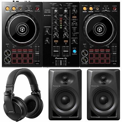 Pioneer DJ Starter Pack with DDJ-400 Controller, DM-40 Monitors & Headphones
