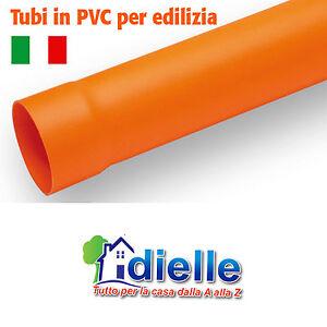 Tubo lunghezza 1 metro pvc plastica rossa arancio acqua for Tubo in pvc per acqua calda
