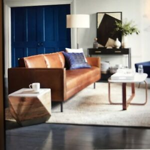"West Elm Axel 89"" Leather Sofa"