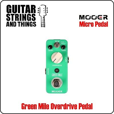 Mooer MOD1 Green Mile Overdrive Foot Pedal
