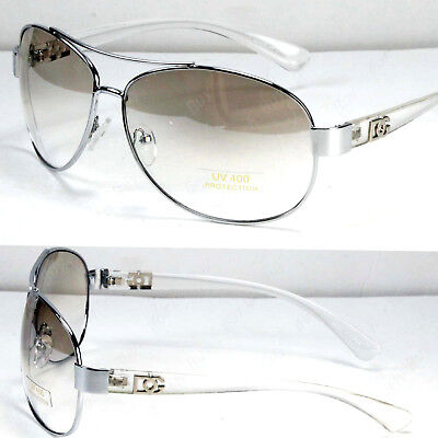 New Eyewear Mens Womens Fashion Designer Pilot Sunglasses Shades Clear White