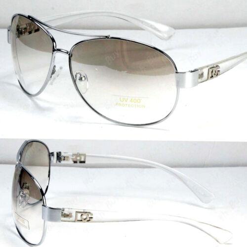 New WB Mens Womens Fashion Designer Pilot Sunglasses Shades Clear White Wrap UV