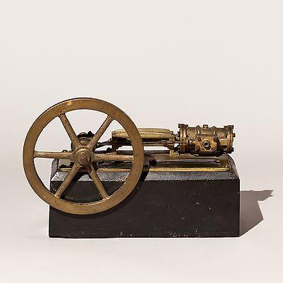 Dampfmaschine mit Schwungrad-Lokomobil-Antik-Spielzeug-19.Jh.+Steam Engine Toy