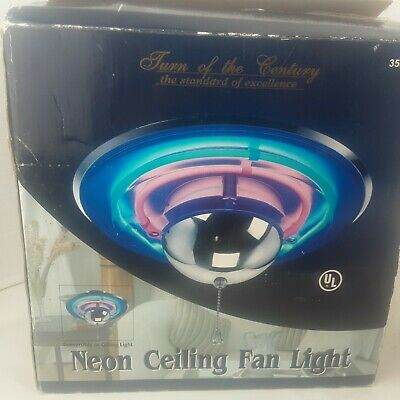 Turn of The Century 355-5183 Blue Red Neon Light Kit For Ceiling Fan