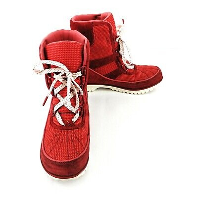 Sorel Tivoli II Go Rocket Sea Salt Winter Snow Boots Women's Size 5.5M Red - Red Go Go Boots