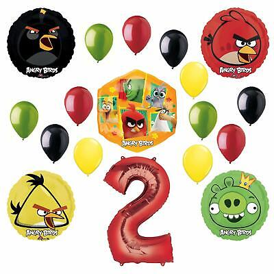 Angry Bird Party Supplies (Angry Birds 2 Party Supplies 2nd Birthday Balloon Bouquet)