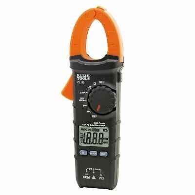 Klein Tools Cl110 Digital Clamp Meter Ac Auto-ranging 400 Amp