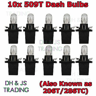 509T 12v Dashboard Panel Speedo Dash Car Auto Van Light Bulb Bulbs QTY 10