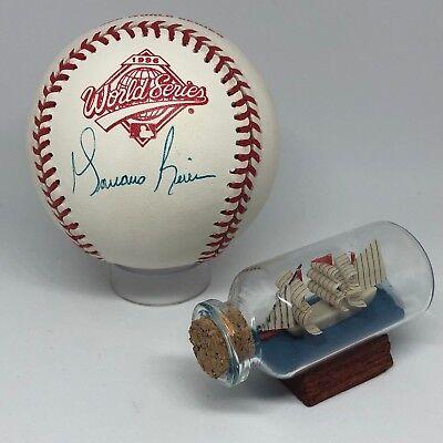 3650213e9 Mariano Rivera signed Rawlings 1996 World Series Baseball JSA HOF Yankees  A761