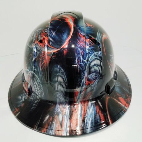 FULL BRIM Hard Hat custom hydro dipped VENOM SPAWN KILLER COLORS SUPER SICK 3