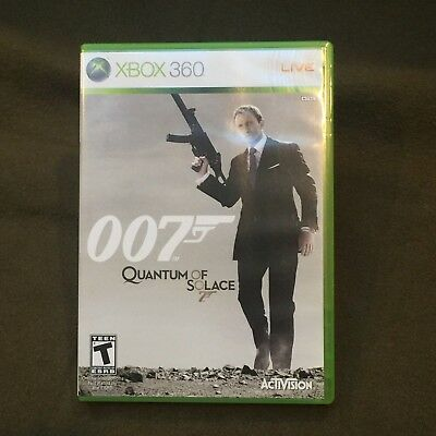 Microsoft XBox 360 Video Game James Bond 007 Quantum of Solace Rated T
