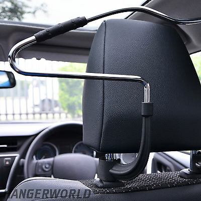 Hangerworld Metal Car Seat Coat Hanger - Universal Headrest Fit