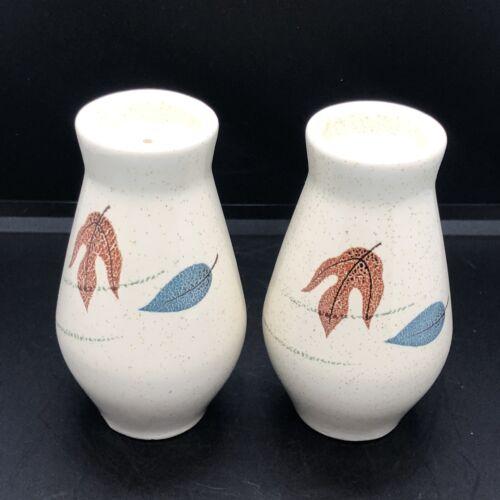 Vintage Franciscan Earthenware Autumn Leaves Salt Pepper Shakers. 4 10-64 MCM - $28.00
