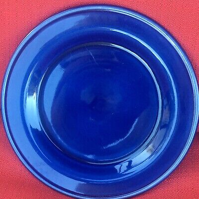 Roseville;Workshop Gerald Henn; Cobalt Blue Sponge Set Of 4/10 In Dinner Plates