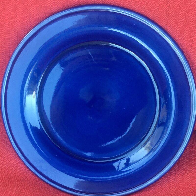 """Roseville;Workshop Gerald Henn; Cobalt Blue Jewel Ware 4, 7 1/2"""" Salad Plates"""
