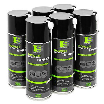 6 x 400ml Spraytive Druckluftspray Druckluftreiniger Reinigungsspray Air Duster
