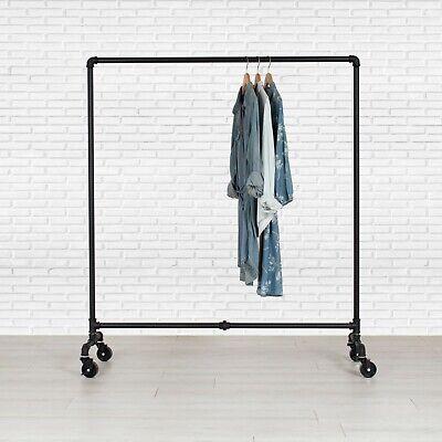 Industrial Pipe Rolling Clothing Rack - Dress Rack By William Roberts Vintage