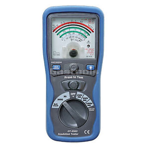 NEW-PRO-ANALOG-INSULATION-TESTER-MEGGER-OHM-METER-CAT-III-1000