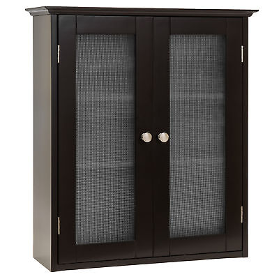 BCP Bathroom Wall Storage Cabinet - Espresso Brown