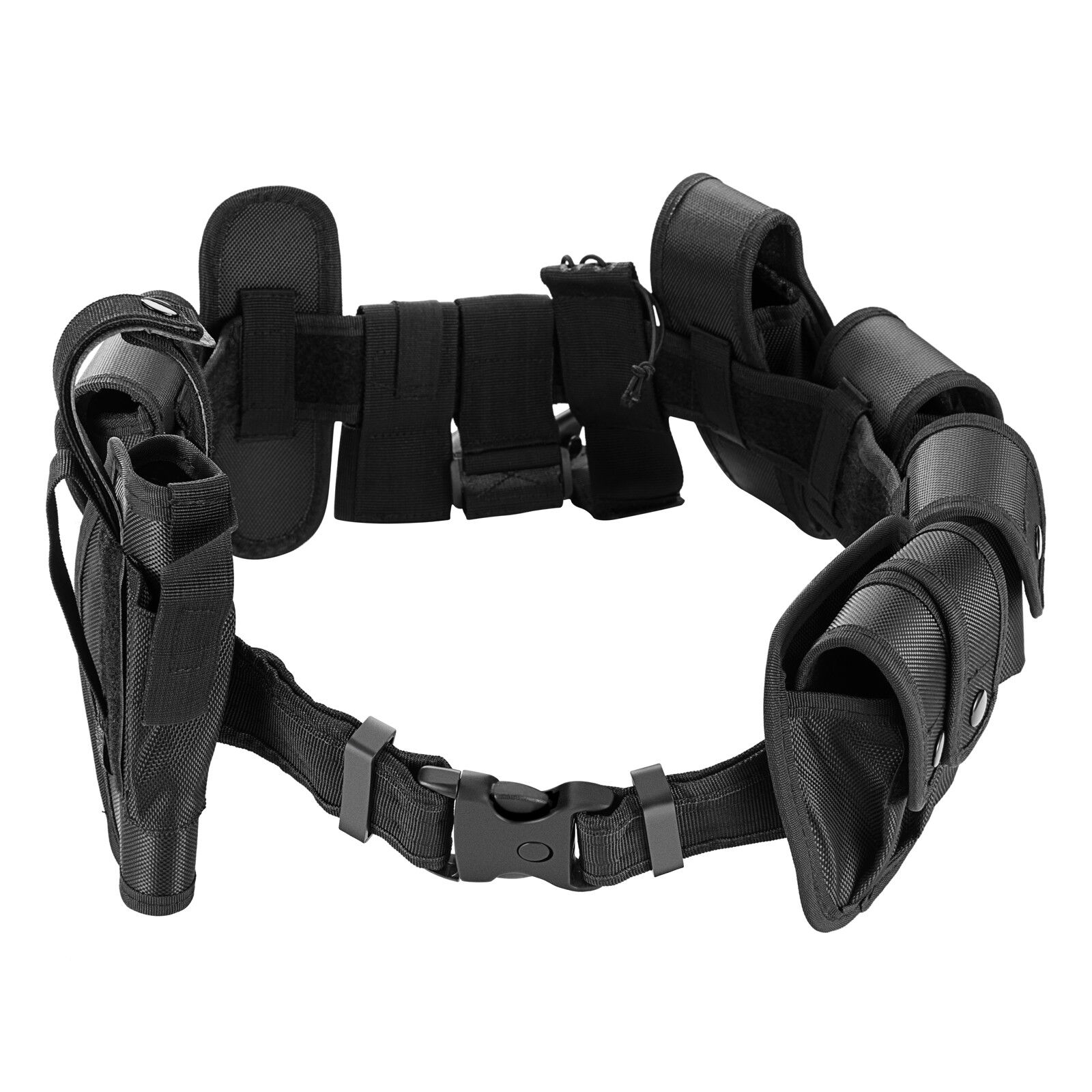 Police Security Guard Enforcement Equipment Duty Belt Tactical 600 Nylon 25 pc Business & Industrial