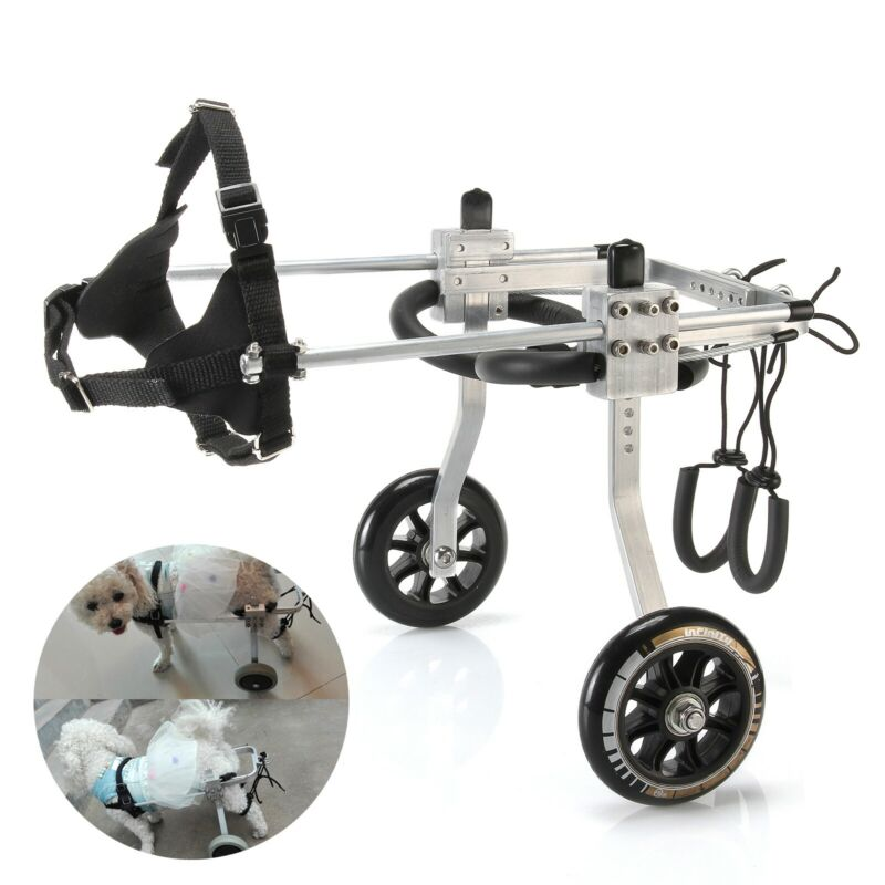 S - Aluminum Cart Pet/Dog Wheelchair For Handicapped Small Dog/Cat/Doggie USA