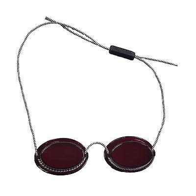 """UV-Patienten Schutzbrille mit Gummizug """"Rot"""" Solariumbrille UV-Brille"""