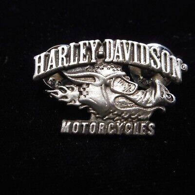 HARLEY DAVIDSON *****ROAD HOG ***  PEWTER PIN  BEAUTIFUL