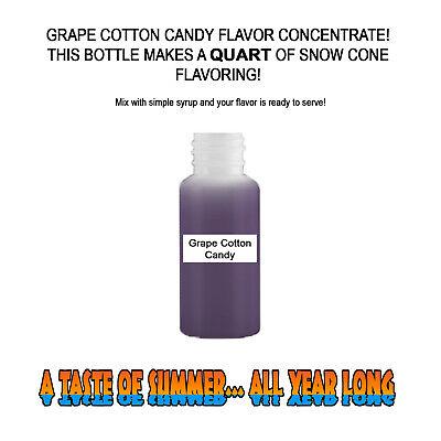 Grape Cotton Candy Mix Snow Coneshaved Ice Flavor Quart 1 Concession
