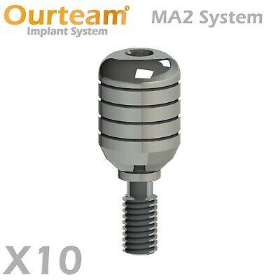 10 Dental Healing Abutment Cap For Regular Platform Implant 2.42 - Top Quality