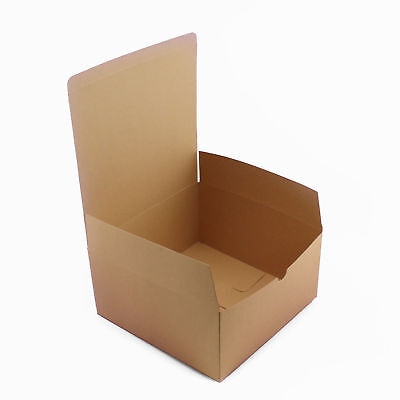 Brown Kraft Square Paper Box Wedding Favors Gift Party Candy Jewelry Box (Brown Candy)