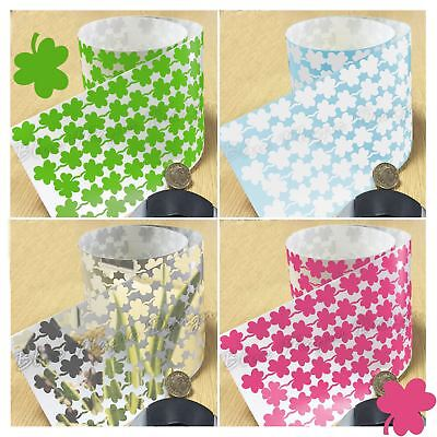 170 Lucky Clover Leaves Vinyl Sticker Irish Shamrock Plant Peel & Stick 1000G