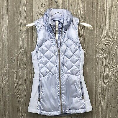 Lululemon Quilted Down Puffer Vest Pale Purple Size 2