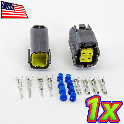 1x Denso 2x2p 4 Pin Waterproof 16-20awg Rugged Automotive Connector Ip67