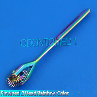 Neurological Wartenberg Pinwheel 2 Head Rainbow Diagnostic Surgial Instruments](Rainbow Pinwheel)