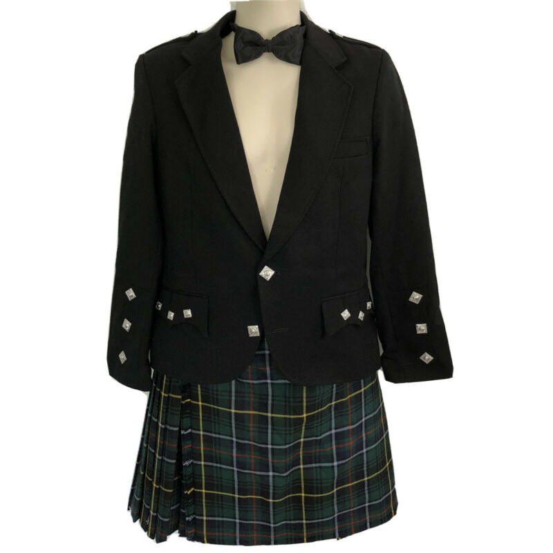 J. Higgins Wool Kilt Daywear Outfit Jacket MacInnes Hunting Modern Tartan
