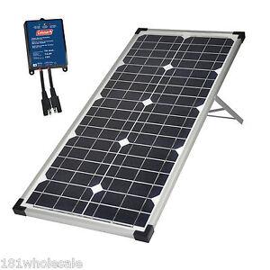 coleman 40w solar 12v panel kit caravan fence camping boat. Black Bedroom Furniture Sets. Home Design Ideas