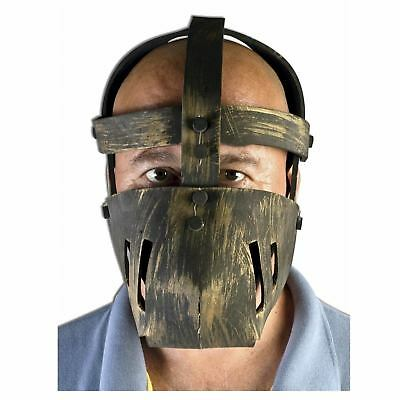 Adult Men's Medieval Torture Prisoner Bondage Jigsaw Halloween Costume Face Mask (Jigsaw Face Mask)
