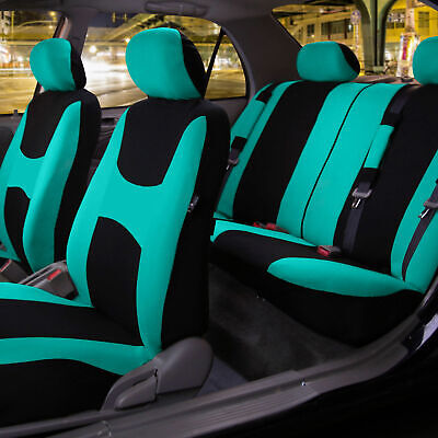 Car Seat Covers MINT Full Set for Auto w/Steering Wheel/Belt Pad/4Head Rest Car Seat Belt Cover Pad
