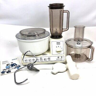 Vtg  Bosch Universal Blender Dough Mixer Kitchen Machine Tested *PART MISSING*