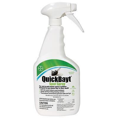Pest Control Bayer QuickBayt Spot Spray 3oz Bitrex Horse Cow Pigs House Flies