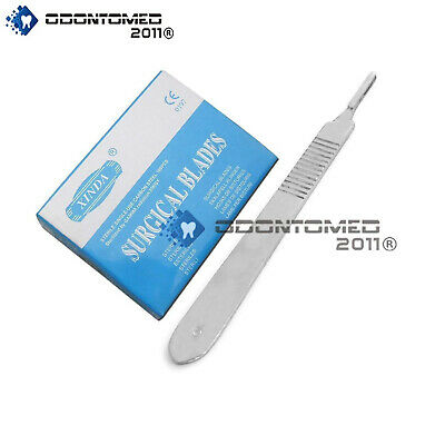 100 Scalpel Blades 15 Scalpel Handle 3 Surgical Dental Ent Instruments