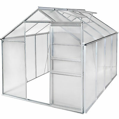 Greenhouse polycarbonate aluminium grow plants growhouse garden structure 7.7m³