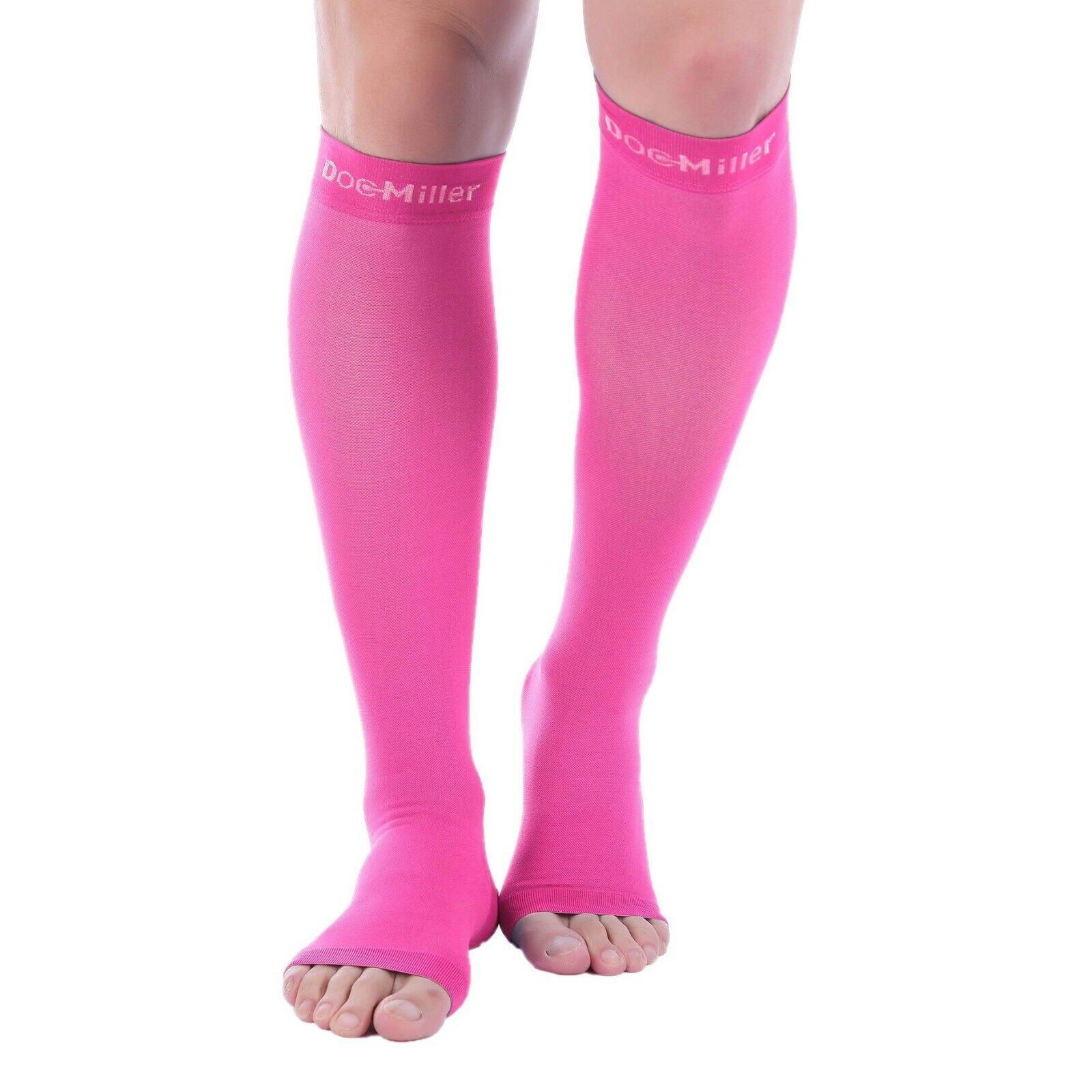 Doc Miller Open Toe Compression Socks 15-20 mmHg Recovery Va
