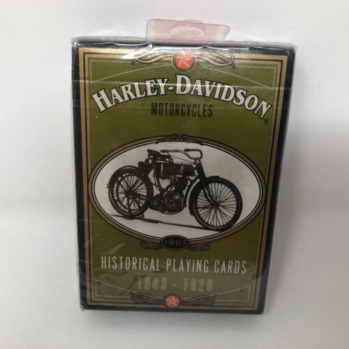 VTG NIP Harley Davidson Historical Playing Cards 1903-1929 Pack Collector HD