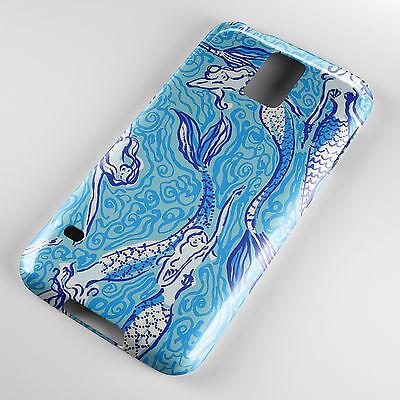 Blu Mermaids Nuoto Ocean Disegnato Custodia Cover Telefono