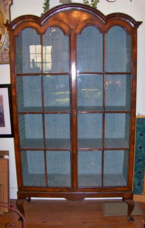 19th C English Queen Ann Style Display Cabinet