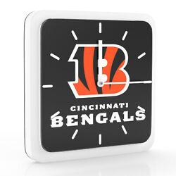 3 in 1 NFL Cincinnati Bengals Home Office Decor Wall Desk Magnet Clock 6 inches