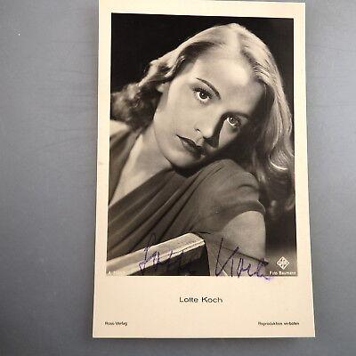 Autogramm Lotte Koch auf Ufa Autogrammkarte (47821)