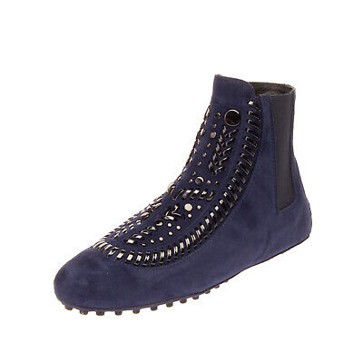 RRP €495 TOD'S Suede Leather Ankle Boots Size 35.5 UK 3.5 US 5.5 Made in Italy
